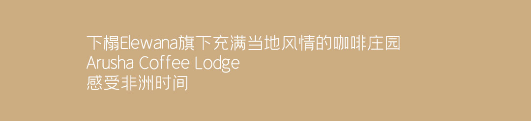 阿鲁沙coffee lodge